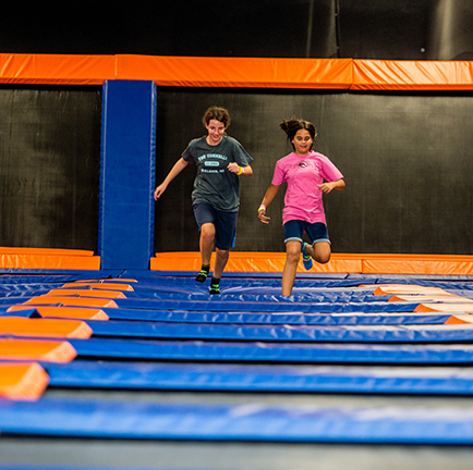 Our indoor trampoline park in Raleigh, NC is the perfect place to bounce around and have a blast!